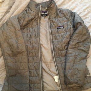 Patagonia grey nano puff jacket